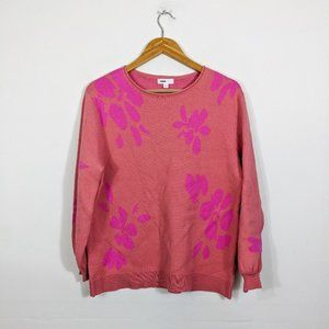 3/15 14th & Union Pink Floral Jacquard Sweater
